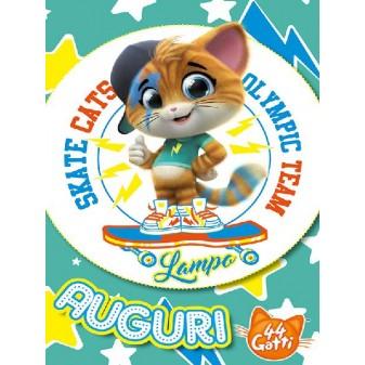 BIGLIETTO AUGURI 44 GATTI - LAMPO SPORT CAT [4467-00]