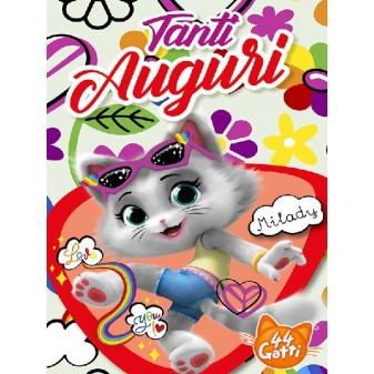 BIGLIETTO AUGURI 44 GATTI - MILADY SNAP CAT [4469-00]