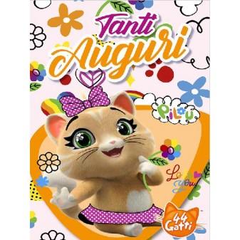 BIGLIETTO AUGURI 44 GATTI - PILOU SNAP CAT [4472-00]