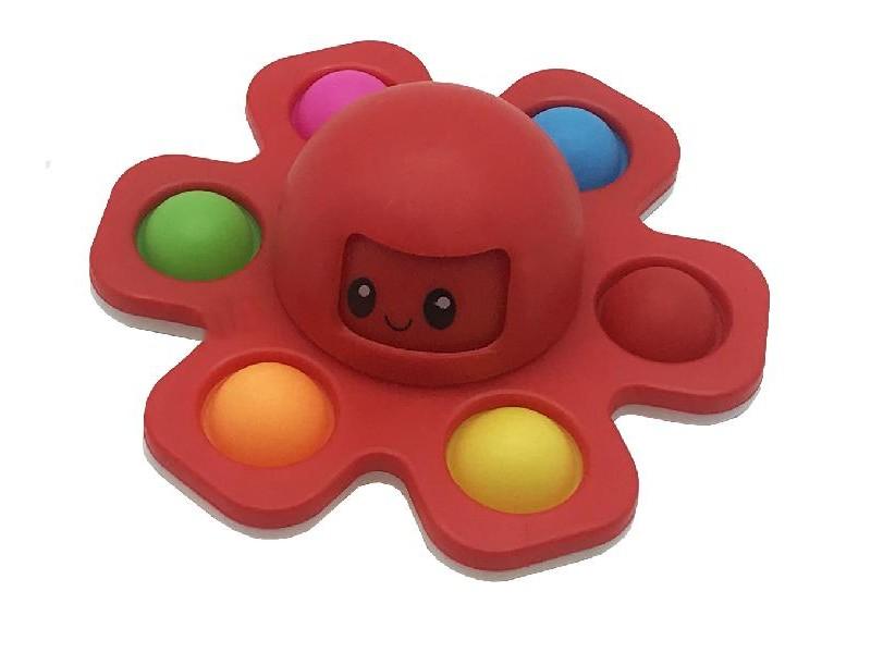 NEW CRAZY POP Octopus - pop it colore rosso [4588-00]
